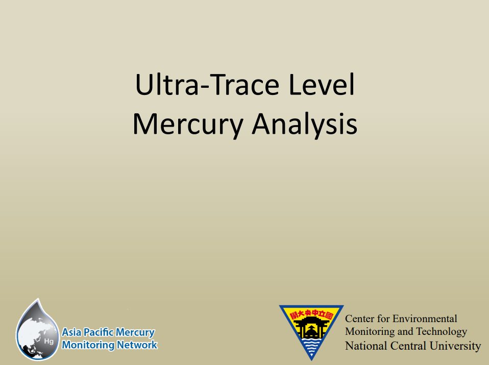 First slide of the Ultra-Trace Level Mercury Analysis training