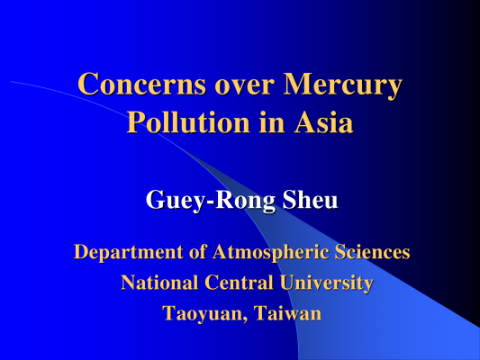 First page of Concerns over Mercury Pollution in Asia