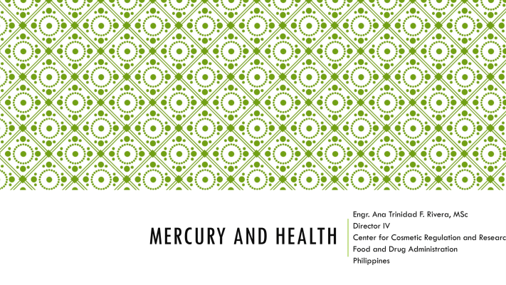 First page of Mercury and Health