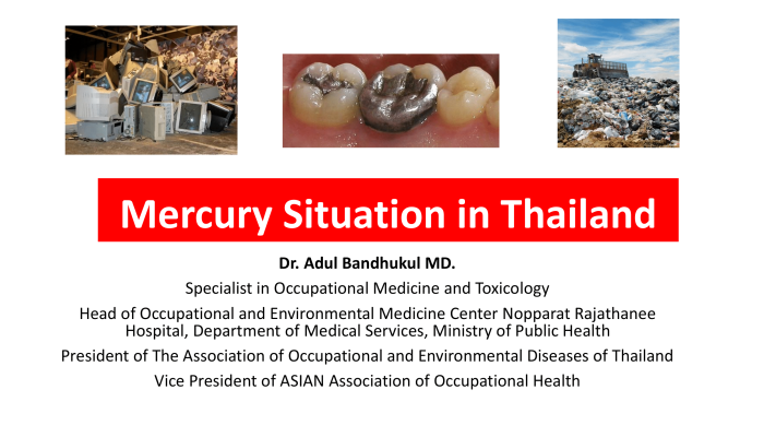 First page of Mercury situation in Thailand