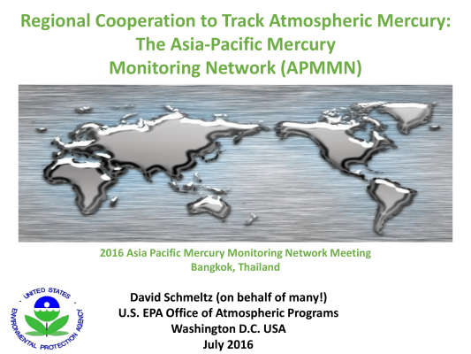 First page of Regional Cooperation to Track Atmospheric Mercury The Asia Pacific Mercury Monitoring Network APMMN