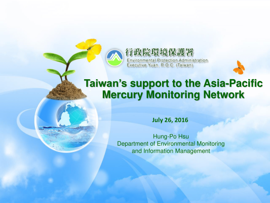 First page of Taiwans support to the Asia Pacific Mercury Monitoring Network