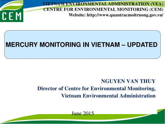 First page of MERCURY MONITORING IN VIETNAM – UPDATED