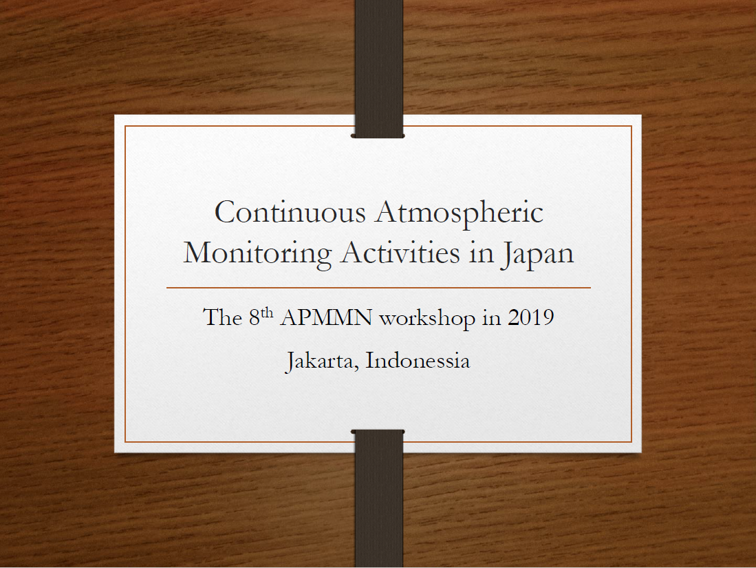 First page of Current activities on atmospheric Hg monitoring in Japan