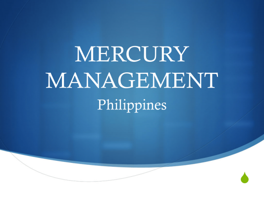 First page of MERCURY MANAGEMENT Philippines