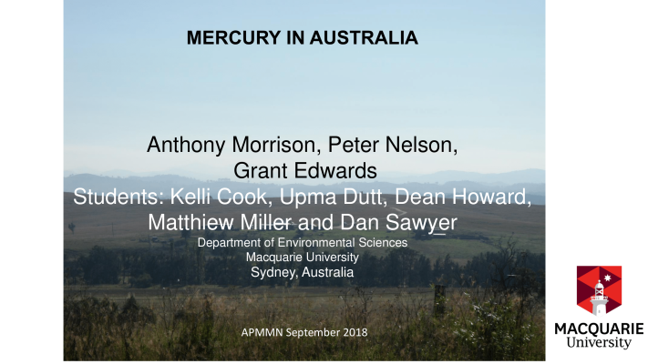 First page of mercury in Australia