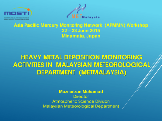 First page of HEAVY METAL DEPOSITION MONITORING ACTIVITIES IN MALAYSIAN METEOROLOGICAL DEPARTMENT (METMALAYSIA)