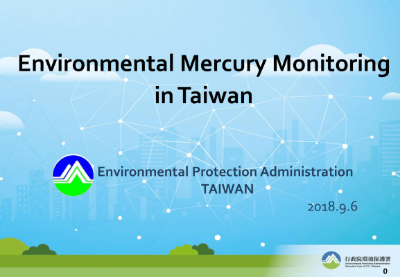 First page of Environmental mercury monitoring in Taiwan