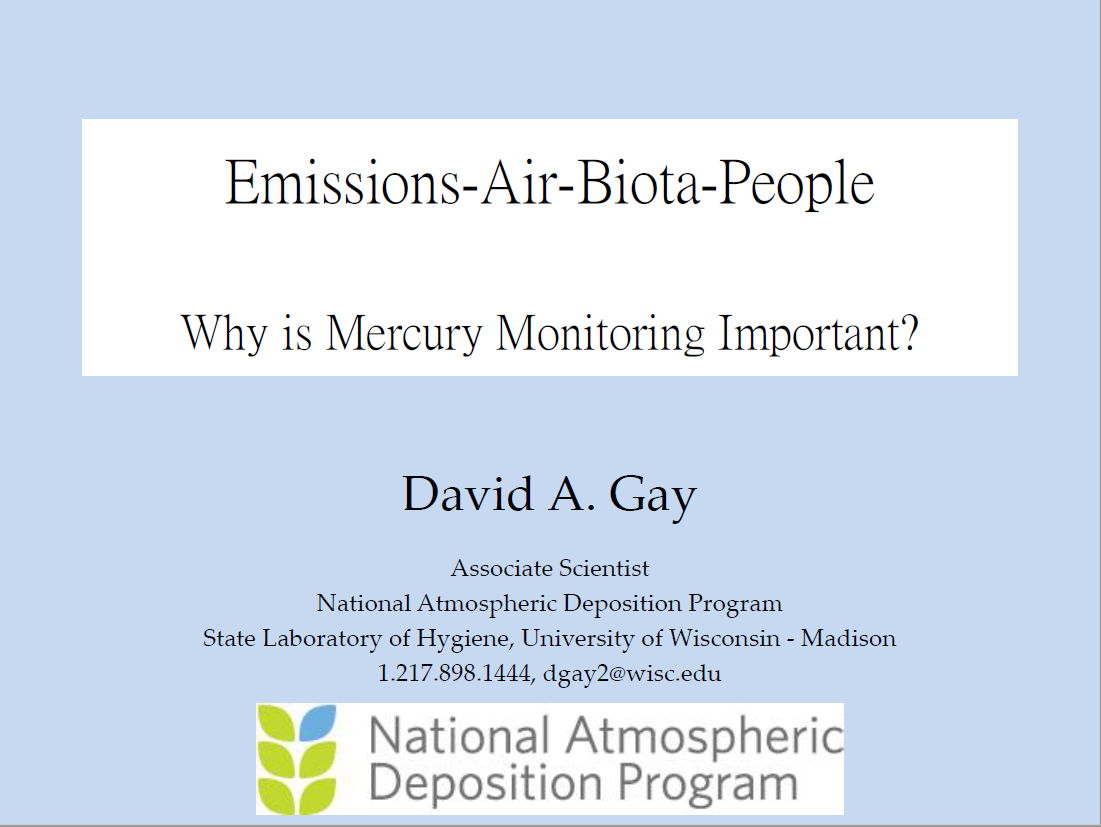 First page of Emissions-Air-Biota-People - Why is mercury monitoring important