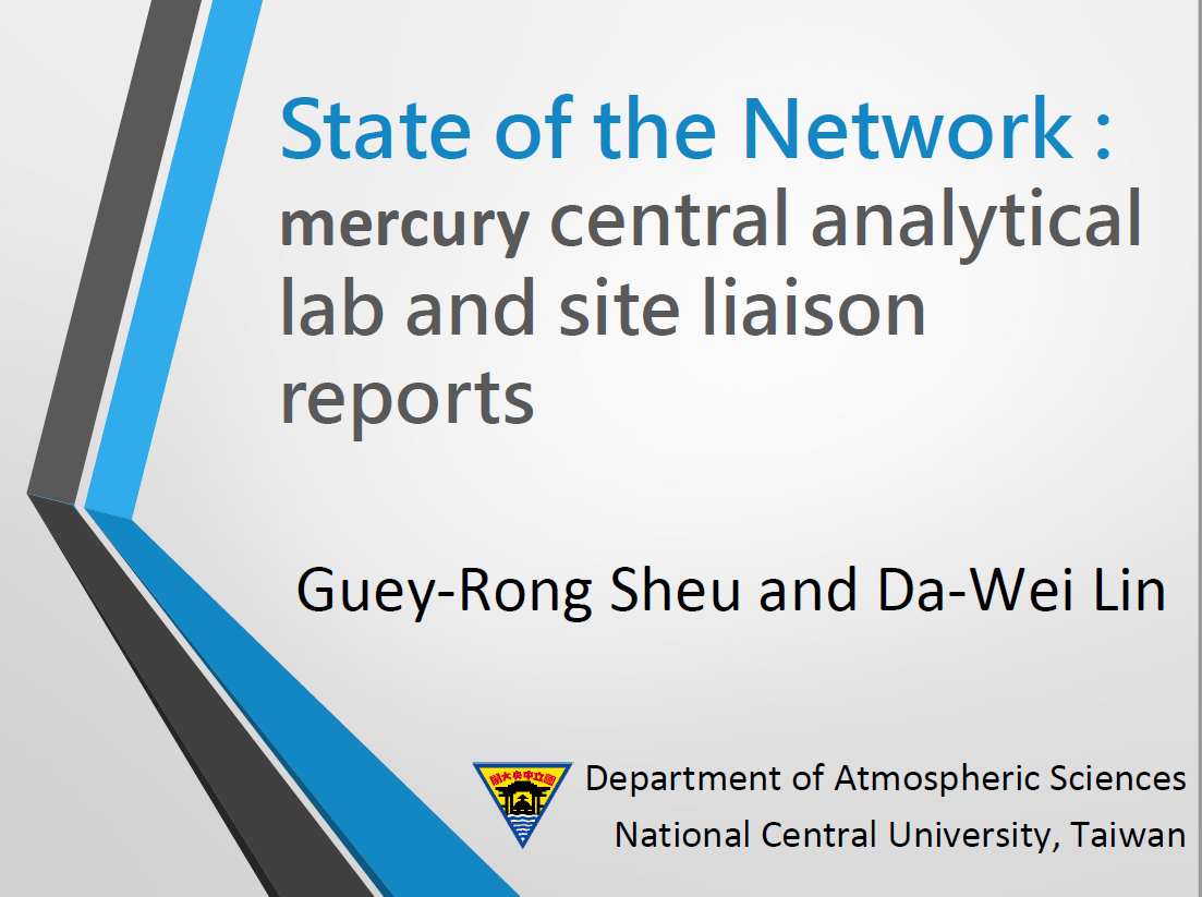 First page of State of the network mercury central analytical lab and site liaison reports