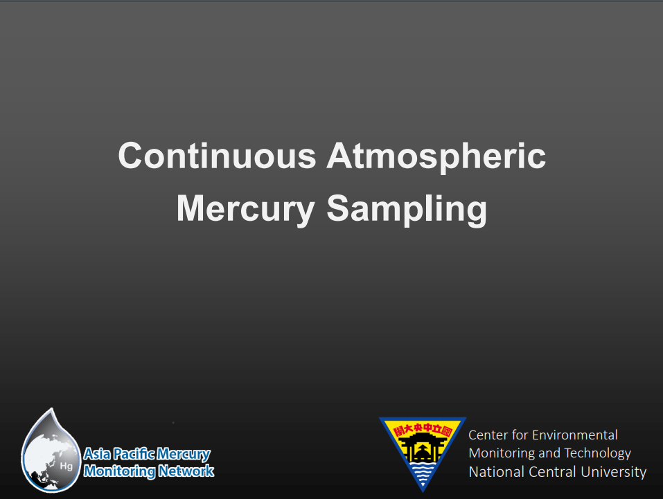 First page of Continuous Atmospheric Hg Sampling