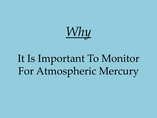 First page of Why is Monitoring Important