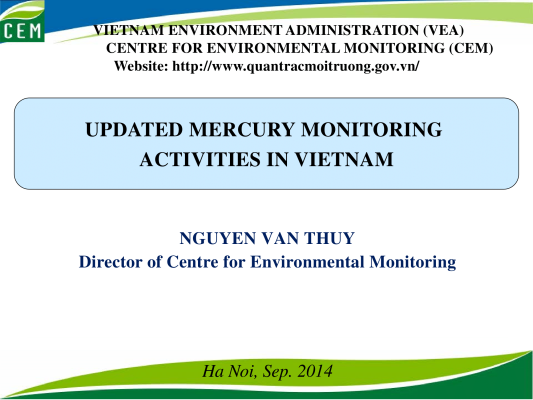 First page of Mercury monitoring