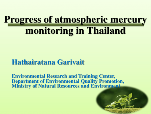 First page of Mercury monitoring in Thailand