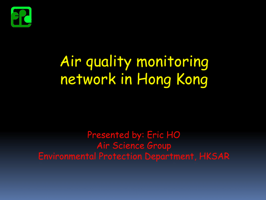 First page of Monitoring Network in Hong Kong