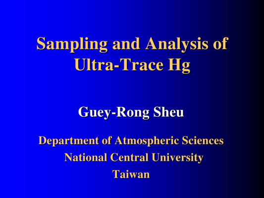 First page of Sampling & Analysis-Ultra-Trace Hg