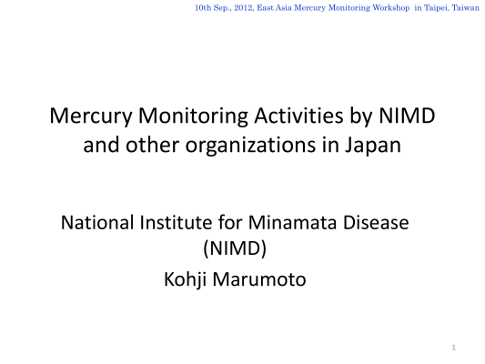 First page of Monitoring in Japan (Draft)