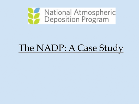 First page of NADP Overview