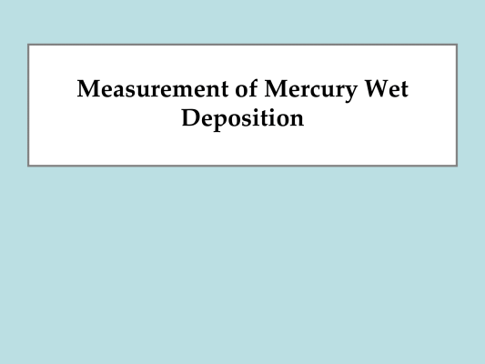 First page of Wet Deposition Methods